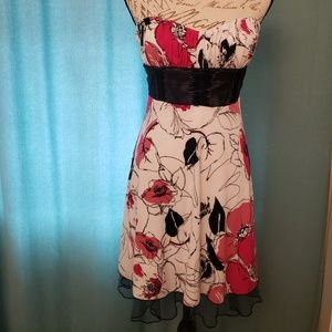 Speechless Floral Strapless Dress Size M